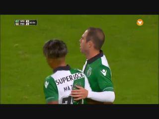 Sporting CP 5-1 Praiense - Golo de Bruno César (62min)
