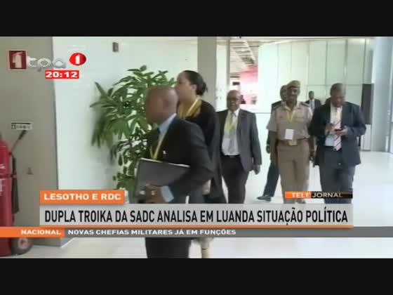 Lesotho e RDC - Dupla troika da SADC analisa em Luanda situação política