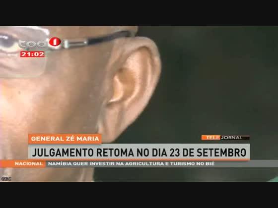 Julgamento do General Zé Maria retoma no dia 23 de Setembro