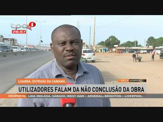 Luanda: Estrada da Camama, utilizadores falam da não conclusão da obra