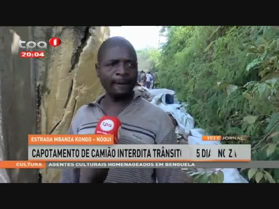 Capotamento de camião interdita trânsito há 5 dias no Zaire